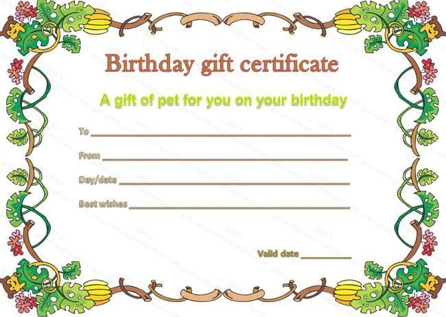Make Your Own Gift Voucher Template | Blank.csat.co