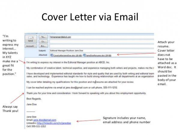 Marvellous How To Write Email With Cover Letter And Resume ...