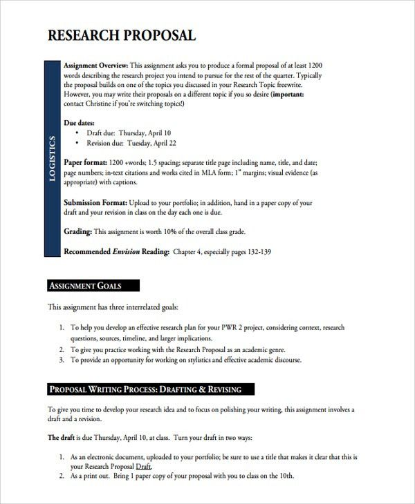 Sample Academic Proposal Template - 7+ Free Documents Download in ...