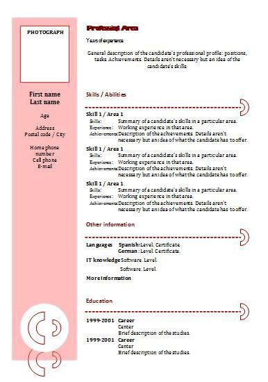 combination format blank resume template free pdf. free resume ...
