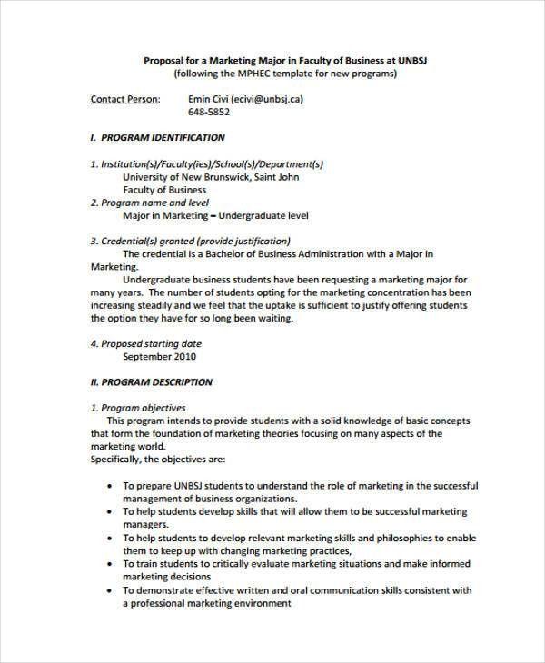 Marketing Business Proposal Templates - 9 Free Word, PDF Format ...