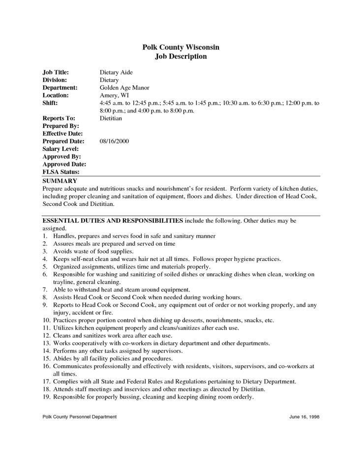 Sample Resume Of Housekeeping In Hospital - Resume Templates