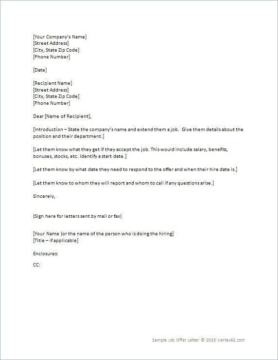 100+ [ Job Offer Template Letter ] | Sample Job Offer Letters ...