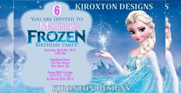 26+ Frozen Birthday Invitation Templates – Free Sample, Example ...
