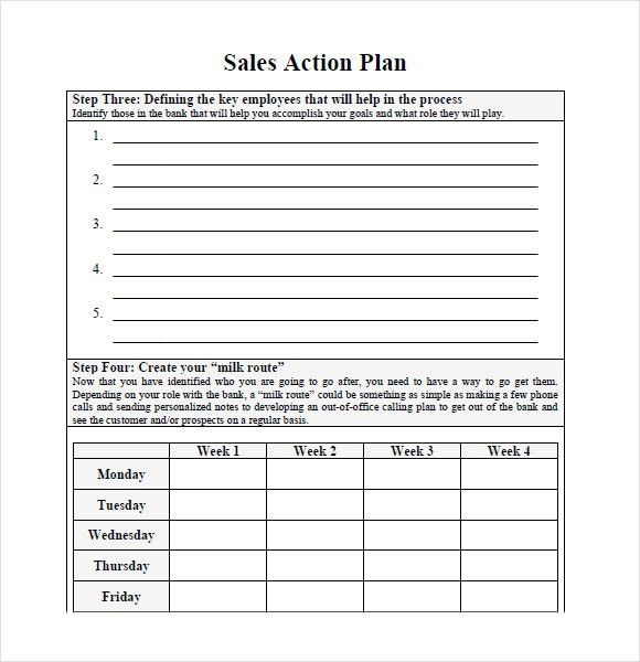 Example Of Action Plan. Sample Sales Plan - 9+ Example, Format ...