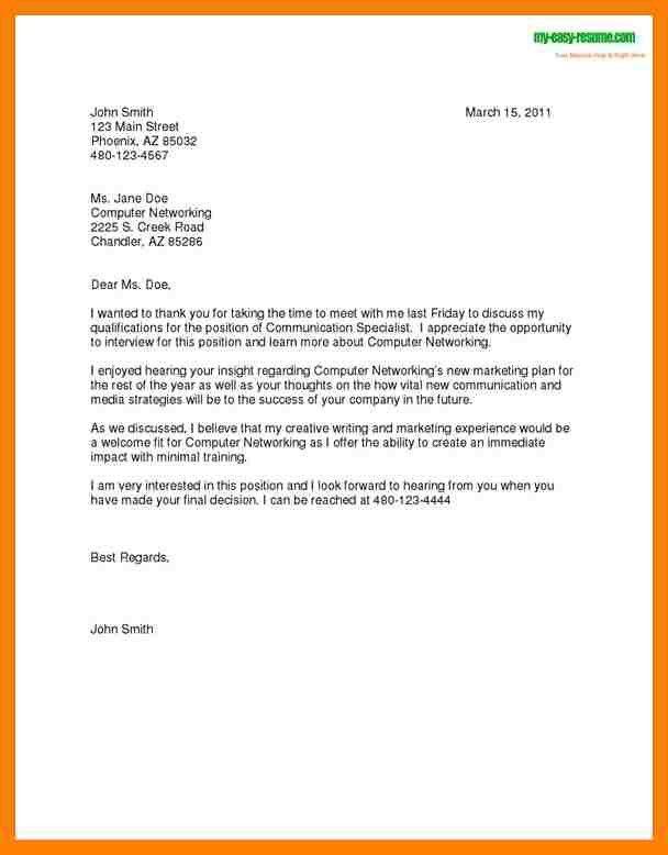 Follow Up Letter Sample | Jobs.billybullock.us