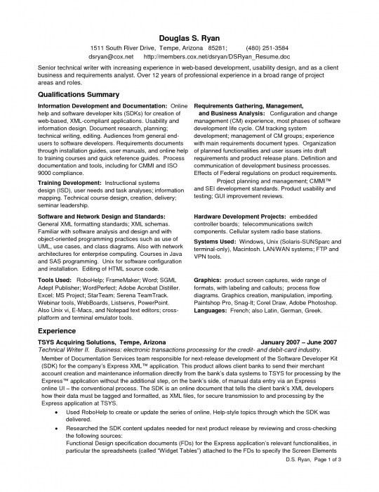 Incredible Business Analyst Profile Resume | Resume Format Web