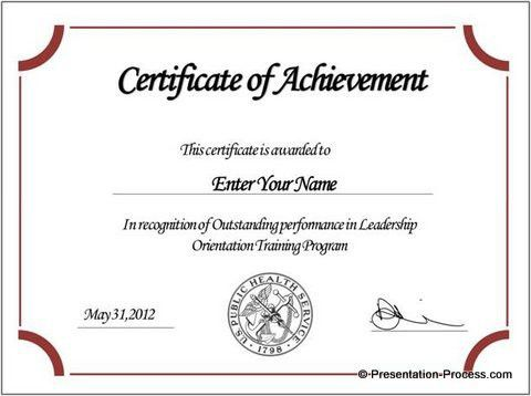 certificate of participation template doc - Template