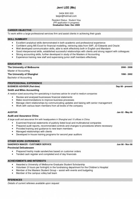 An Example Of A Good Resume | Samples Of Resumes