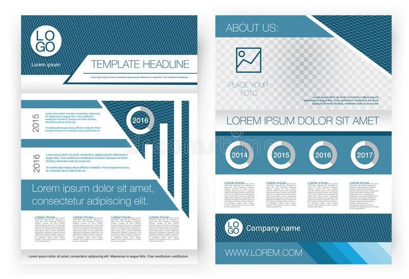 Vector Brochure Design Template. Front Page And Back Page ...
