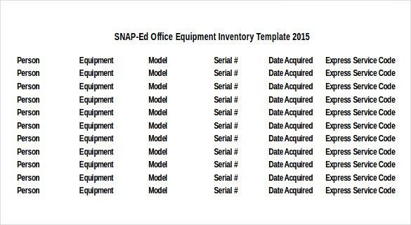 Equipment Inventory Template - 10 Free Word, Excel, PDF Documents ...