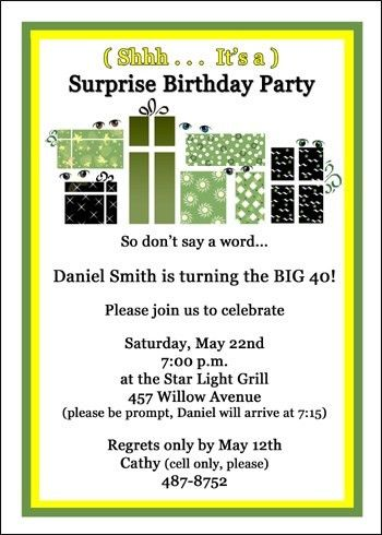 How To Word A Birthday Invitation First Birthday Invitation - Invitation message for a surprise birthday party