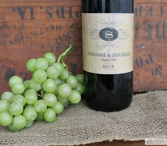 Winery Wedding Invitation + Free Printable Wine Labels | The Elli Blog
