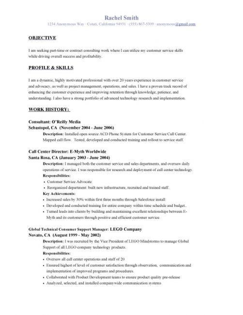customer service call center resume objective unforgettable call