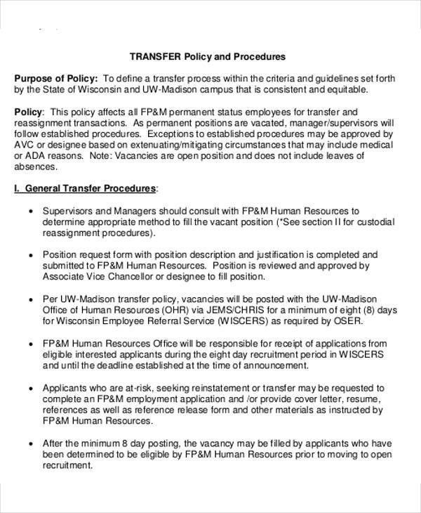 Policy And Procedures Template. template accounting policies and ...