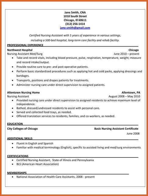 choose. sample cna resumes cna resume examples cna sample resume ...