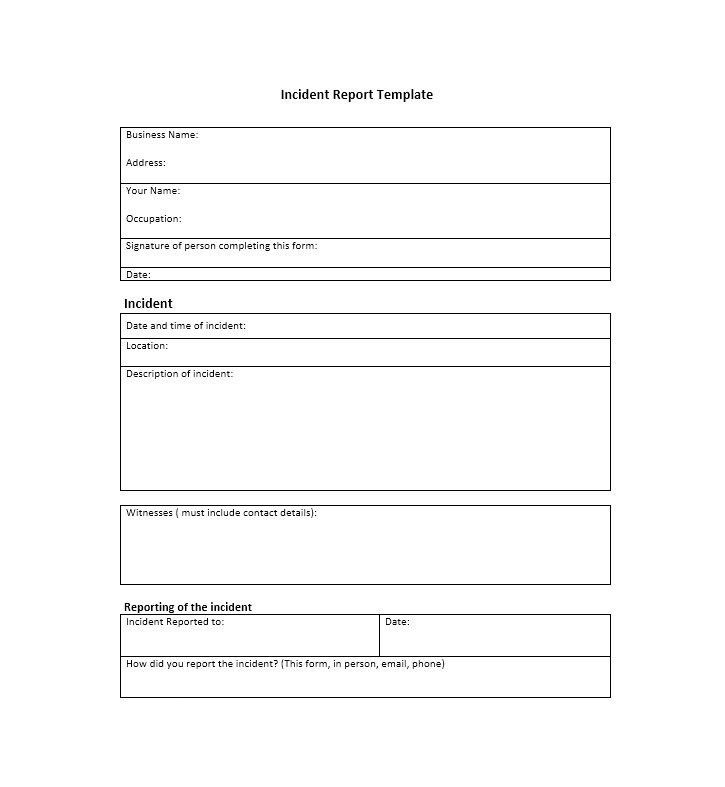 60+ Incident Report Template [Employee, Police, Generic ...