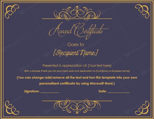 10+ Best Award Certificate Templates for 2016