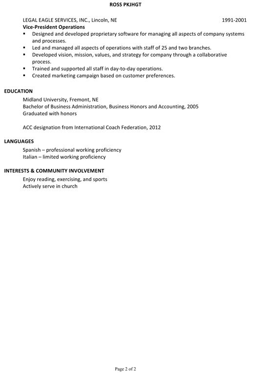Youth Pastor Cover Letter