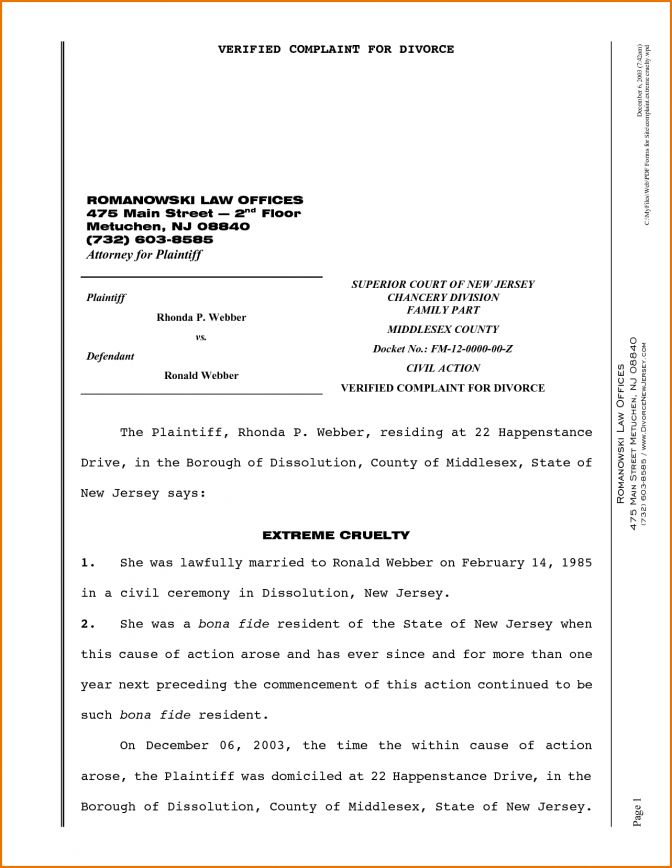 8 Nevada Divorce Papers Pdf Paper Nj Forms Onlin ~ Lotcos