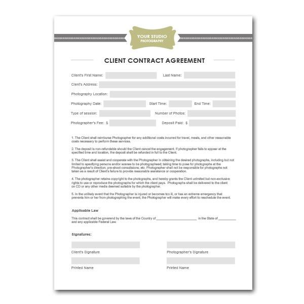 Squijoo.com - Photography Contract Template … | Pinteres…