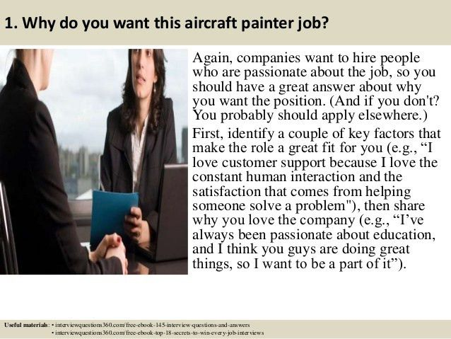 Top 10 aircraft painter interview questions and answers