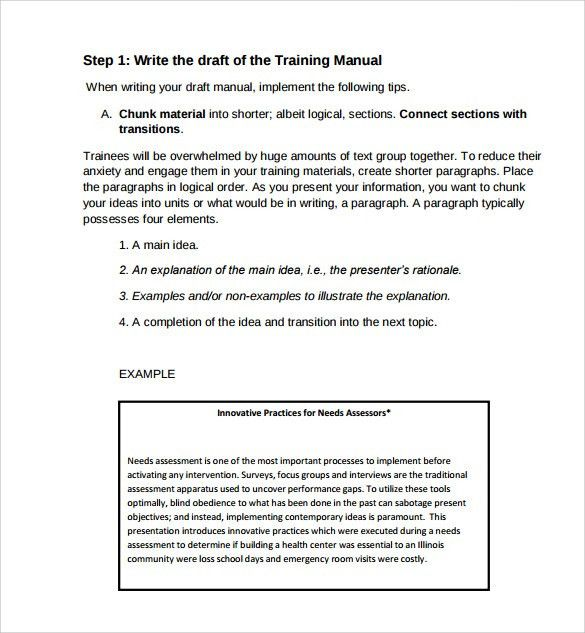 Sample Training Manual   10+ Documents In PDF  Manual Template Word