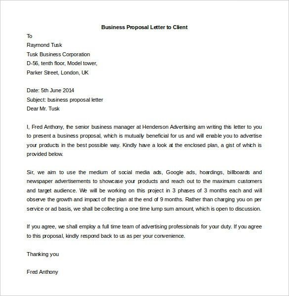 Business Letter Templates - 16+ Free Sample, Example Format | Free ...