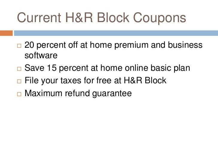 H&R Block Coupons | Current Coupon Codes