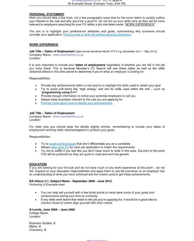 large size of resume sample monster sample resume for store ...