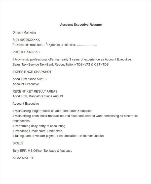 Account Executive Resume. Sales Account Executive Resume Example ...