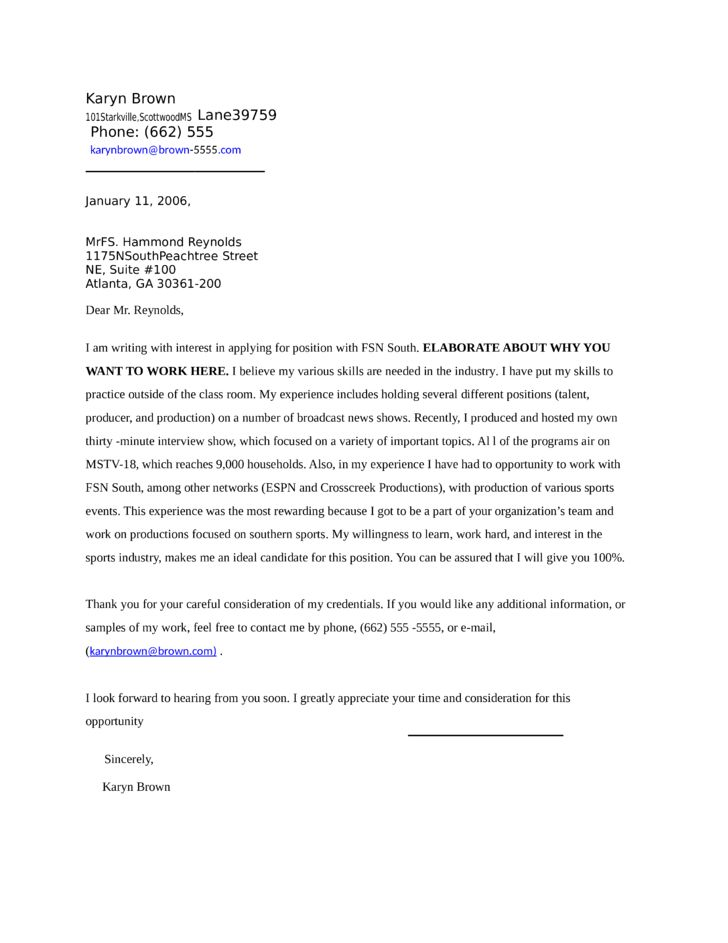 News Producer Asssitant Cover Letter Samples and Templates