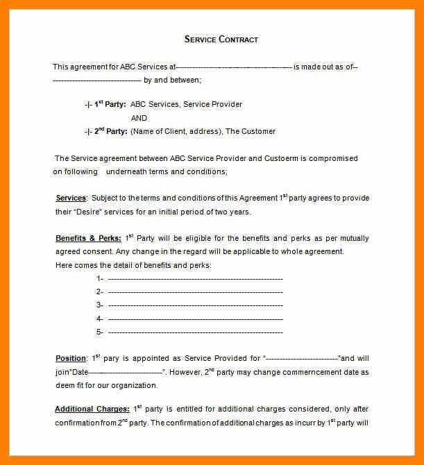 Format Of Service Agreement [Nfgaccountability.com ]