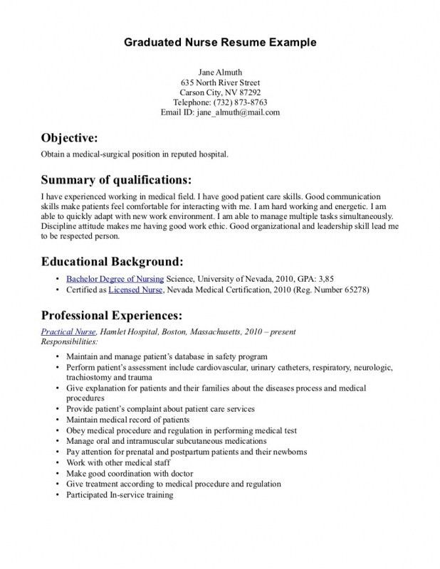 New Grad Rn Resume Examples | Samples Of Resumes