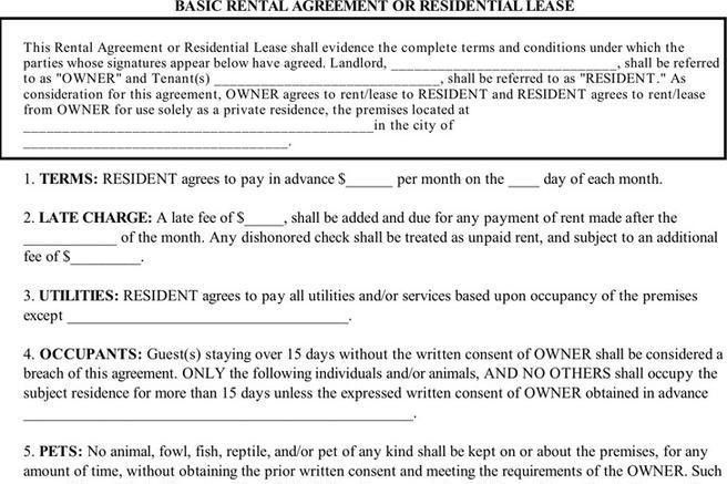 Basic Rental Agreement Letter Template. Lease-Agreement-Template ...