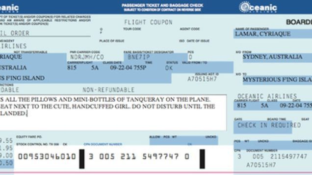 Fake Airline Ticket Template. letter from us airlines about free ...