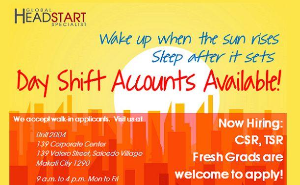 Global Headstart Specialist   Call Center Jobs in Manila