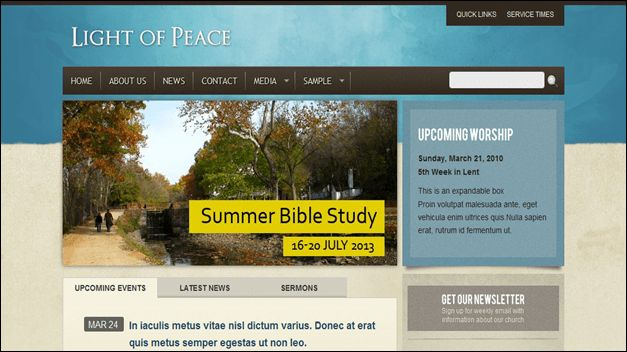 10 Beautiful Church Website Templates for Religious Websites