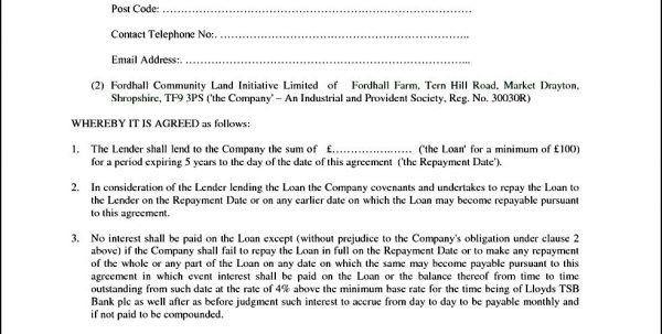 Loan Agreement Template Free Secured Loan Agreement Template Loan ...