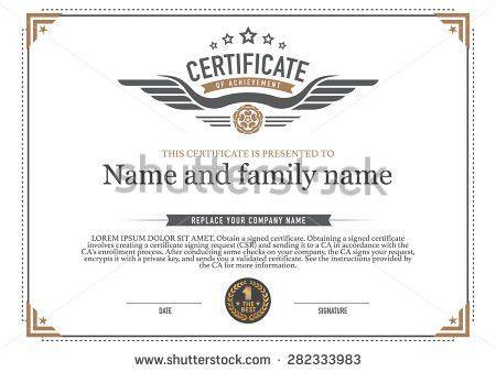 Certificate Design Template Stock Vector 224983801 - Shutterstock