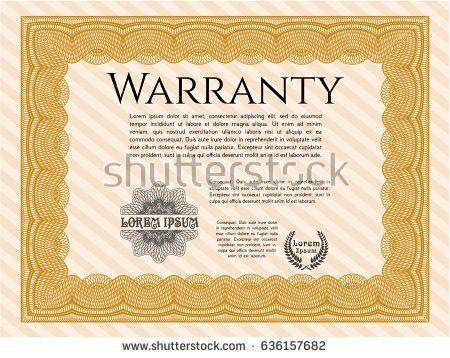 Orange Certificate Diploma Award Template Money Stock Vector ...