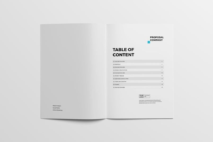 Free Professional Proposal Template - Free Design Resources