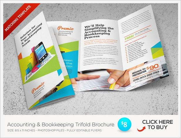 Accounting and Bookkeeping Services Flyers by kinzi21 | GraphicRiver