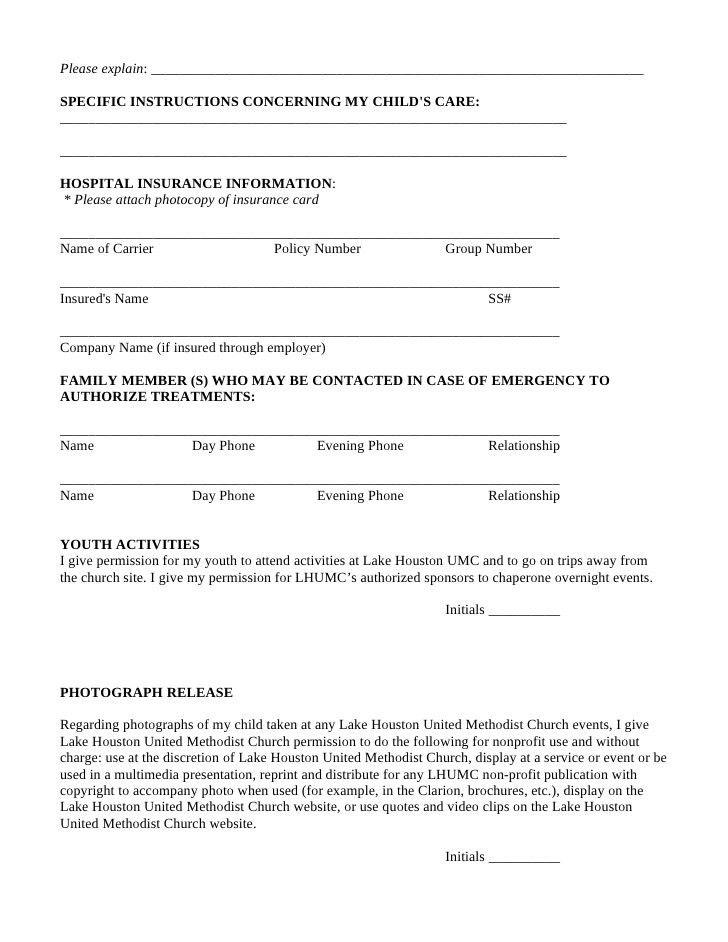 Emergency Release Form. Sample General Release Form - 10+ Download ...
