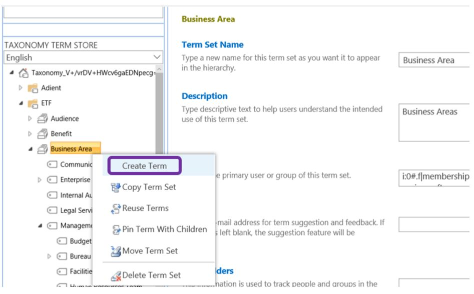 Creating a Managed Metadata Column in SharePoint Online ...