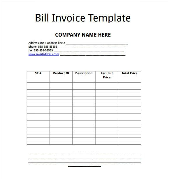Billing Invoice Template. If You'Re Invoicing For Goods Sold ...