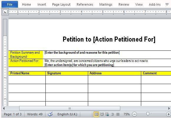 Best Free Petition Templates for Word