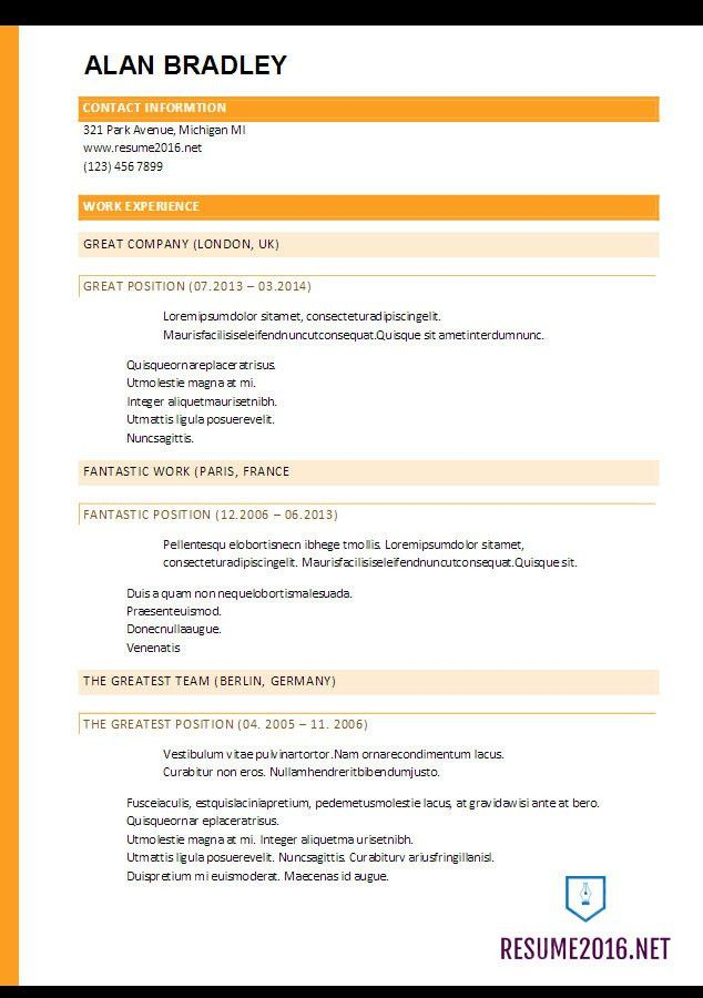 www latest resume format latest resume format 2016 hot resume