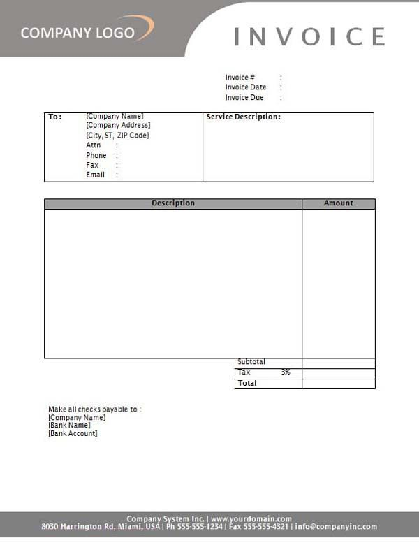 Free Online Invoice Templates - Resume Templates