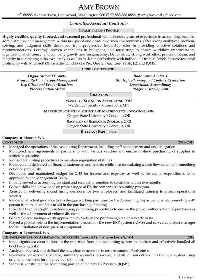 Auditing Resume Examples - Resume Professional Writers